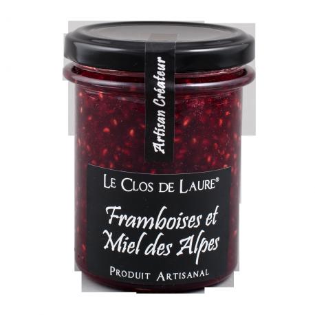 Confiture de framboise et miel des Alpes