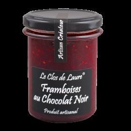 Confiture de framboise au chocolat