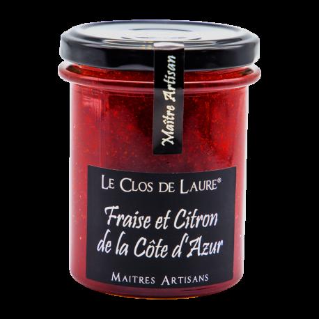 Confiture de fraise au citron de la Côte d'Azur