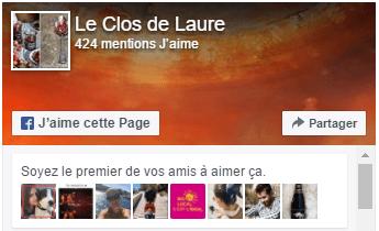 Retrouvez Le Clos de Laure sur FaceBook